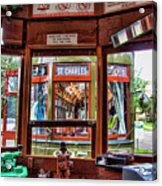 Driver St. Charles Trolley New Orleans Acrylic Print