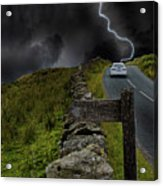 Driving Into The Storm Acrylic Print