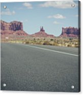 Driving Monument Valley Acrylic Print