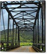 Driving Over Hanalei Bridge Acrylic Print