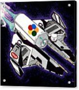 Drobot Space Fighter Acrylic Print