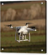 Drone Fly Above The Field Acrylic Print