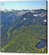 Drone Shot Of Lake Evan Acrylic Print