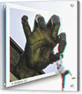 Drop Out - Use Red-cyan 3d Glasses Acrylic Print