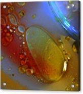 Drops And Rainbow Acrylic Print