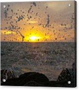 Drops, Sun And Sea Acrylic Print