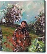 Dror And The Almond Trees Acrylic Print