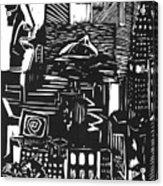 Drowning In Metropolis Acrylic Print by Darkest Artist