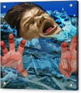 Drowning In Wealth Acrylic Print