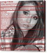 Drug Facts Acrylic Print