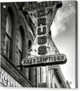 Drug Store Sign Acrylic Print by Steven Ainsworth