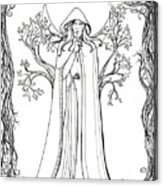 Druid Woman Shush Acrylic Print