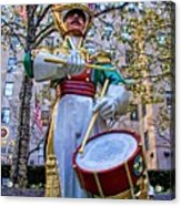 Drummer Boy  In Rockefeller Center Acrylic Print