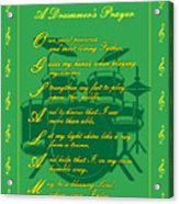Drummers Prayer_2 Acrylic Print by Joe Greenidge