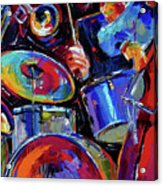 Drums And Friends Acrylic Print by Debra Hurd