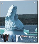 Drying Clothes In Ice Berg Alley Acrylic Print