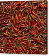 Drying Red Hot Chili Peppers Acrylic Print
