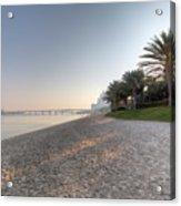 Dubai Beach Sunset Acrylic Print