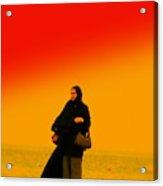 Dubai Beach Walk Acrylic Print