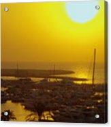 Dubai Marina Jumeirah Sunset Acrylic Print