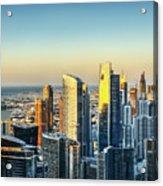 Dubai Towers At Sunset. Acrylic Print