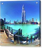 Dubai Burj Khalifa Panorama Acrylic Print