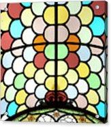 Dublin Art Deco Stained Glass Acrylic Print