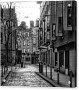 Dublin Ireland - Essex Street In Black And White Acrylic Print
