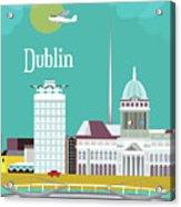 Dublin Ireland Vertical Scene Acrylic Print