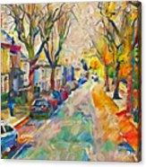 Dublin Side Street Acrylic Print