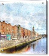 Dublin Watercolour Acrylic Print