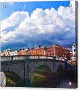 Dublin's Fairytales Around Grattan Bridge V2 Acrylic Print