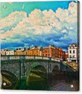 Dublin's Fairytales Around  River Liffey V4 Acrylic Print