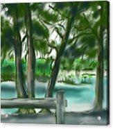 Dubois Park Lagoon Acrylic Print