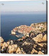Dubrovnik And The Adriatic Coast In Croatia Acrylic Print