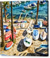 Dubrovnik Croatia - Sea Of Boats Acrylic Print