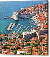 Dubrovnik From Above Acrylic Print