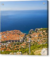 Dubrovnik From Above Panorama Acrylic Print