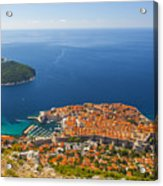 Dubrovnik Old Town From Above Acrylic Print