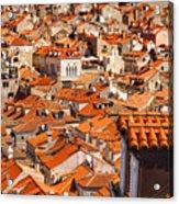 Dubrovnik Orange Old Town Rooftops Acrylic Print