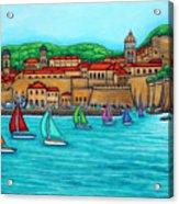 Dubrovnik Regatta Acrylic Print