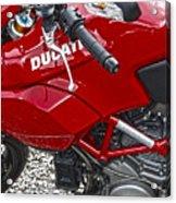 Ducati Red Acrylic Print
