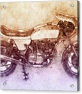 Ducati Supersport 2 - Sports Bike - 1975 - Motorcycle Poster - Automotive Art Acrylic Print