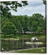 Duck House Deering Oaks Park Portland Maine Acrylic Print