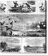 Duck Hunting, 1868 Acrylic Print