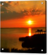 Duck Sunset Outer Banks North Carolina Acrylic Print