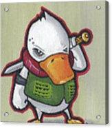 Ducky Death Acrylic Print