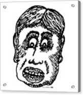 Dude Face Acrylic Print