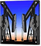 Dueling Oil Well Pumps Acrylic Print