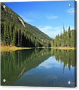 Duffey Lake Reflection In Autumn Acrylic Print